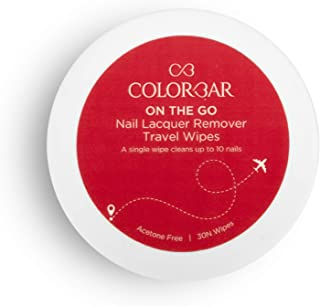 Colorbar On the Go Nail Lacquer Remover Wipes, Sunshine Rose, 30 Pieces