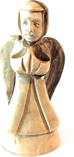 Genuine Trading Authentic Hand Carved Olive Wood Christmas Little Praying Angel with Wings Made Out of Genuine Holy Land Olive Trees
