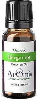 ArOmis Bergamot Essential Oil - Certified Organic - 100% Pure Therapeutic Grade - 10ml, Undiluted, Natural, Premium, Massage Oil, Oils Perfect for Aromatherapy, Diffuser, Headache, Skin & More!