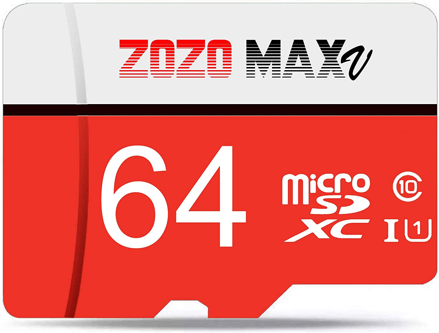 ZOZO MAXV Micro SD Card 64GB High Speed Class 10 Memory Card with Adapter Standard Packaging High Performance Choice for Camera, Cell Phone, Tablets, Smartphones, Laptops, Pictures, Videos,Store Data
