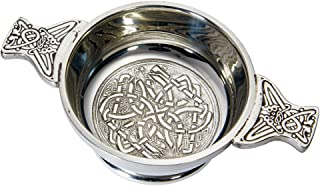 Wentworth Pewter - Standard Celtic Circle Pewter Quaich Whisky Tasting Bowl Loving Cup Burns Night