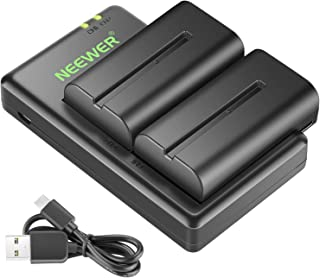 Neewer NP-F550 Battery Charger Set for Sony NP F970,F750,F960,F530,F570,CCD-SC55,TR516,TR716,and More (2-Pack Battery, Dua...
