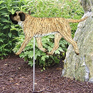 Ky & Co YesKela Mastiff Outdoor Garden Dog Sign Hand Painted Figure Fawn Brindle