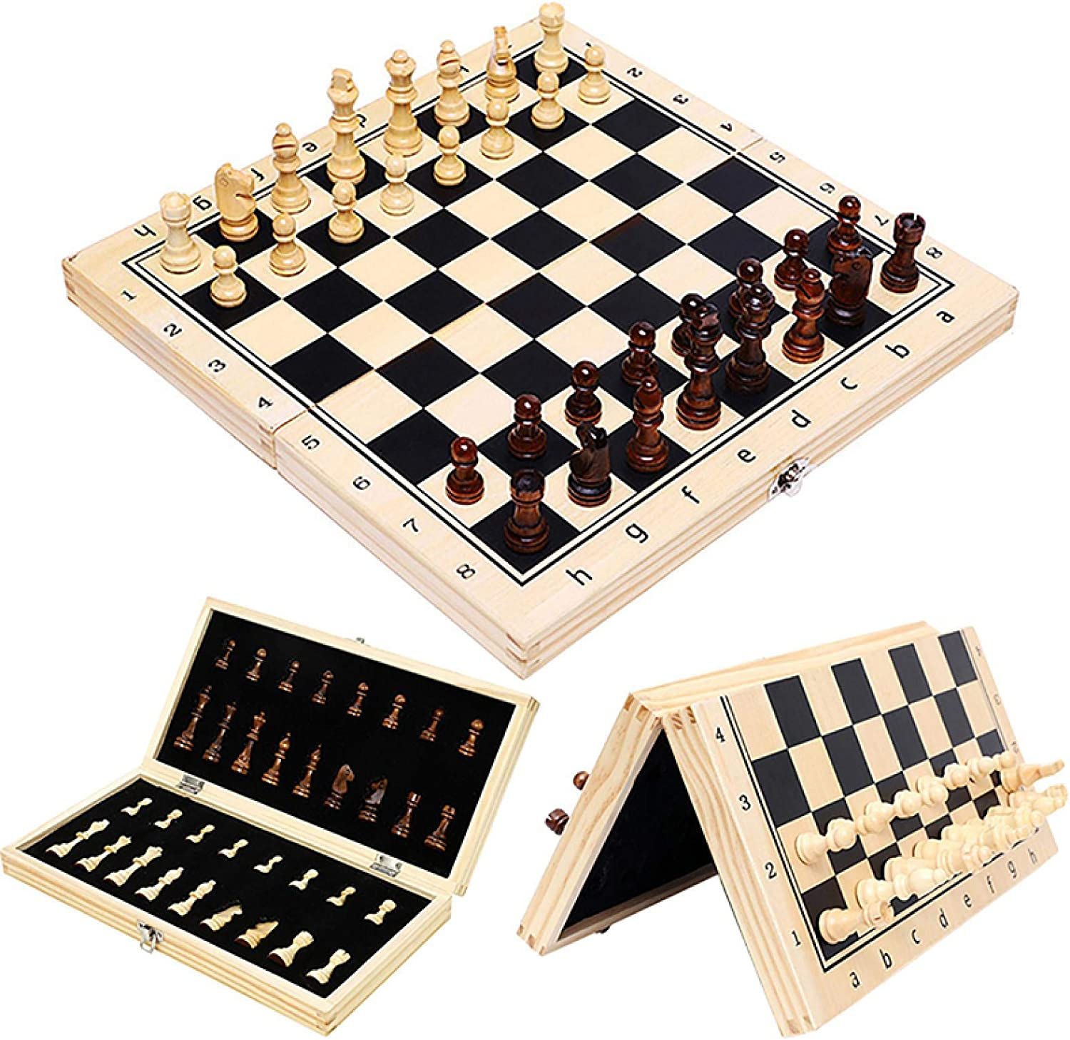 100% quality warranty FIBVGFXD Wooden Chess Sets Magnetic Folding Large low-pricing