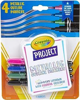 Crayola Markery kontur projektu 4/Pkg - kolory metaliczne