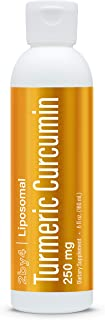 Liposomal Curcumin Turmeric Liquid Supplement - Anti Inflammatory Joint Pain Relief, High Potency Antioxidant with Sunflow...
