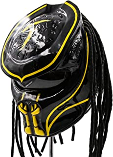Predator Motorcycle Helmet - DOT Approved - Unisex - Yellow Abyss