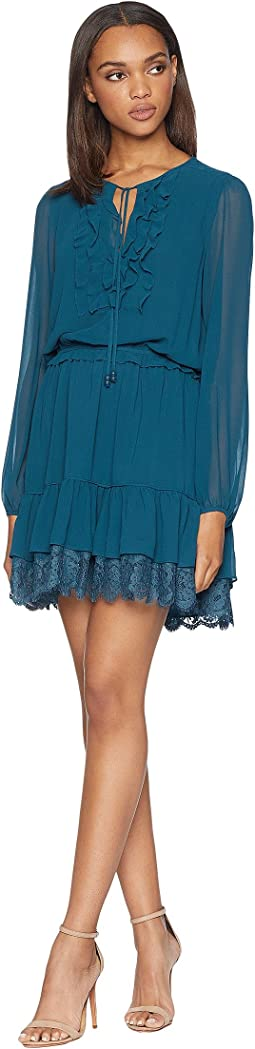 Solid Ruffle Flirty Dress