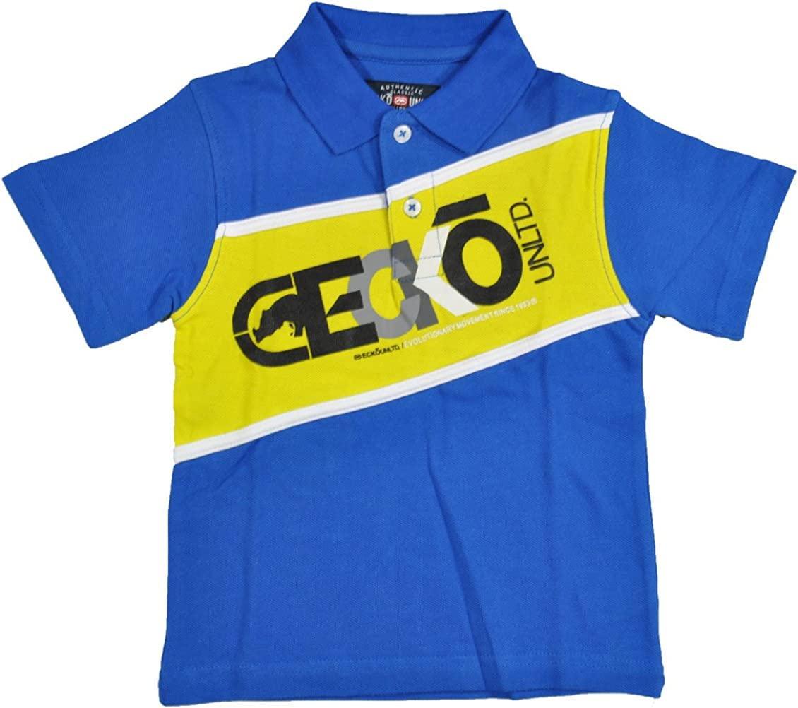 Ecko Unltd Toddler Boys True Royal Blue & Yellow Polo