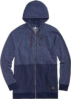 Mens Small Full Zip Tonal Pieced Sweater Blue S
