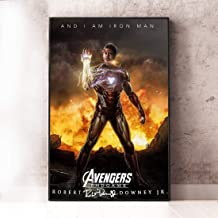 346831247 and I-am #Ironman #Avengers Large Fantastic Prints Poster Endgame Boys Rooms Poster Home Art Wall Posters (24x36)