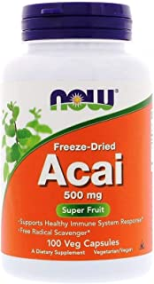 Now Foods, Freeze-dried Acai, 500 Mg, 100 Veggie Caps