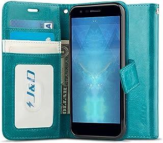 J&D Compatible para LG K30 Funda, LG K10 2018 Funda, [Bloqueo de RFID] [Soporte Plegable] Funda Pesada Resistentes Billetera para LG K30, LG K10 (Release in 2018) Funda Cuero - [No para LG K10 2017]