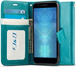 J&D Case Compatible for LG Phoenix Plus/LG K30 / LG K10 2018 Case, [Wallet Stand] [Slim Fit] Heavy Duty Protective Shock Resistant Flip Cover Wallet Case for LG Phoenix Plus Wallet Case - Blue