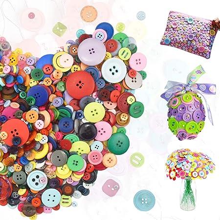 4 boutons neuf mercerie plastique couleur gris clair 2 cm lot 1239