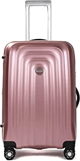 Ornate 3 Piece Luggage Set - Hardshell Suitcase with Spinner Wheels and TSA lock/Security Zipper (Pink)
