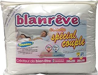 Blanrêve Couette Spéciale Couple Blanc 240 x 220