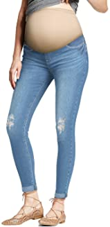 HyBrid & Company Super Comfy Stretch Women's Skinny Maternity Jeans