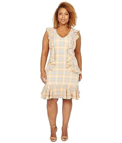 MICHAEL Michael Kors Pop Plaid Cascade Dress Women