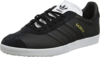adidas Originals Womens Gazelle Casual Fashion Lace Up Trainers Shoes - Black