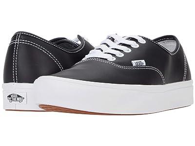 Vans ComfyCush Authentic ((Leather) Black) Athletic Shoes
