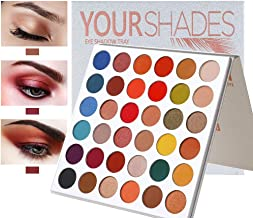 MAYCREATE® Make up Palette YOURSHADES Eyeshadow Highly Pigmented for Proffesional And Home Makeup 9 Shimer+27 Matte Shades 36 Colors Make up Palette Glitters Eye Make Up