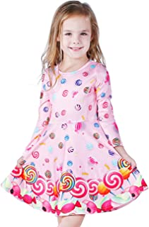Girls Dress Sleeveless Long Sleeve Kids Toddler Little Big Girl Unicorn Mermaid Casual Dresses