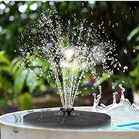 Yudanny 3. 8W Solar Powered Fountain Pump, Garden Fountain with LED Light Solar Bird Bath Fountain Pond Fish Tank Fountain with Colorful LED Light
