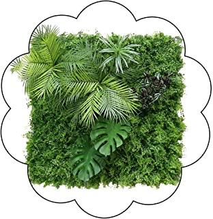 XEWNEG Artificial Plant Hedges, Green Leaves And Floral Screening Panels, For Home Garden Outdoor And Indoor Natural Scree...