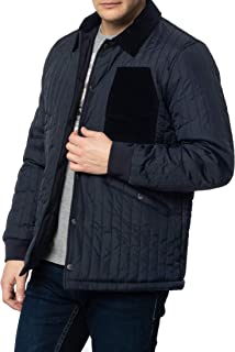 merc Charter, Men's Quilted Coach Jacket with Corduroy Details