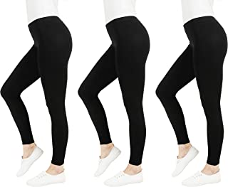 FM London Damen Casual Leggings, 3 Paar