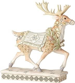 Enesco Jim Shore Heartwood Creek White Woodland Reindeer Figurine, 8.25