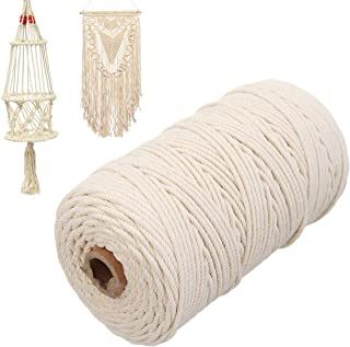 Baumwollkordel, Naturbeige, gedrehte Kordel, Makramee-Schnur