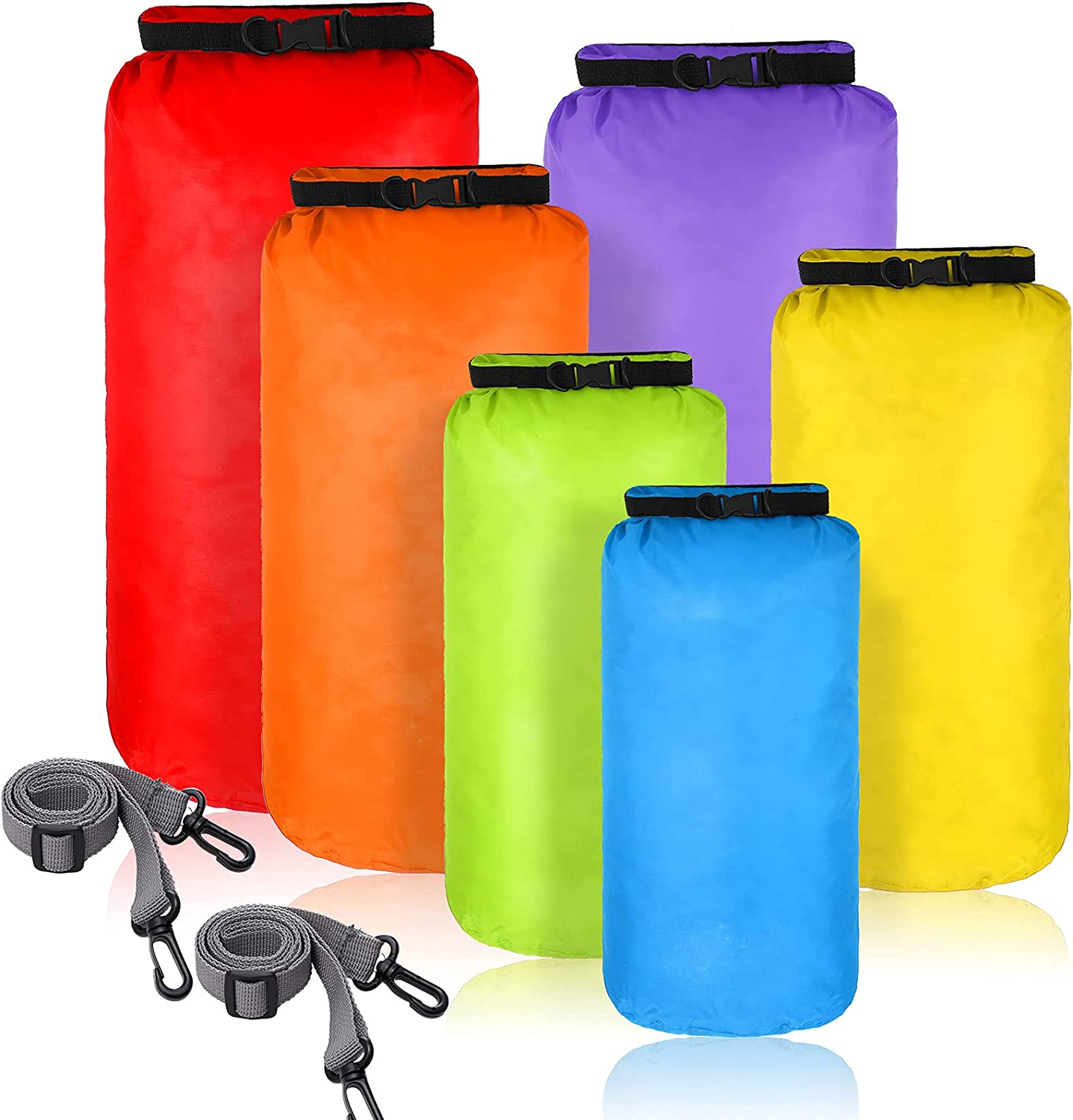 6 Pieces Waterproof Louisville-Jefferson County Mall Dry Bag Sacks Lightweight C Super Special SALE held Set Airtight