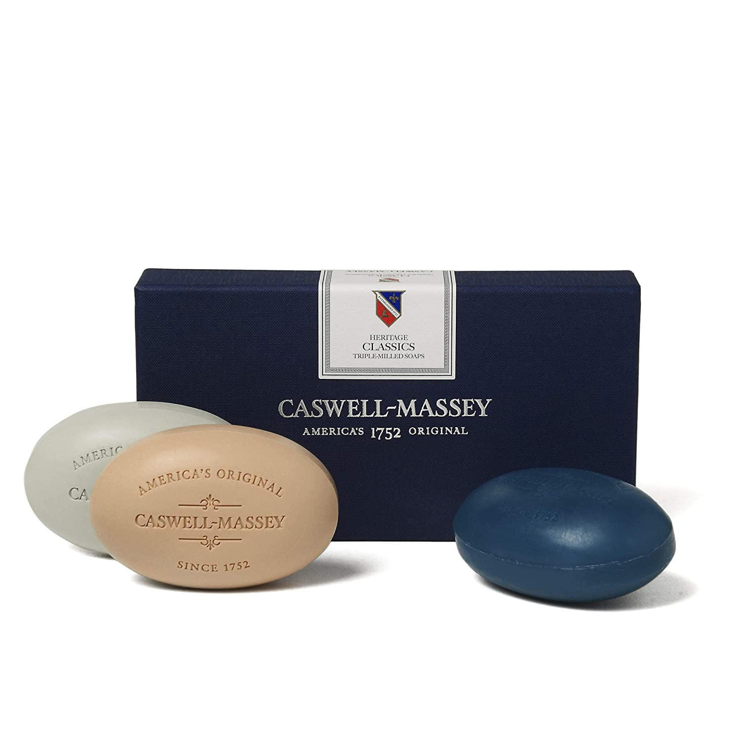 Caswell-Massey Heritage Collection Triple Milled Bath Soap (Classics, 5.8 Ounce (Pack of 3))