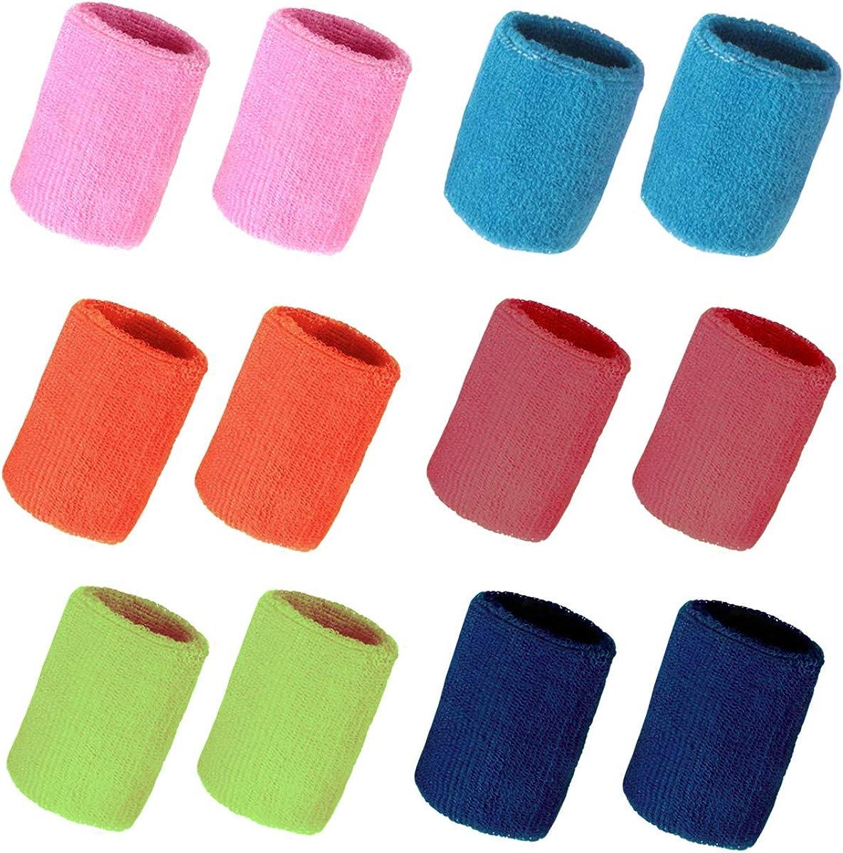 Hapy Shop 12 Pack Colorful Sport trust Athletic Bargain Terr Wristbands Cotton