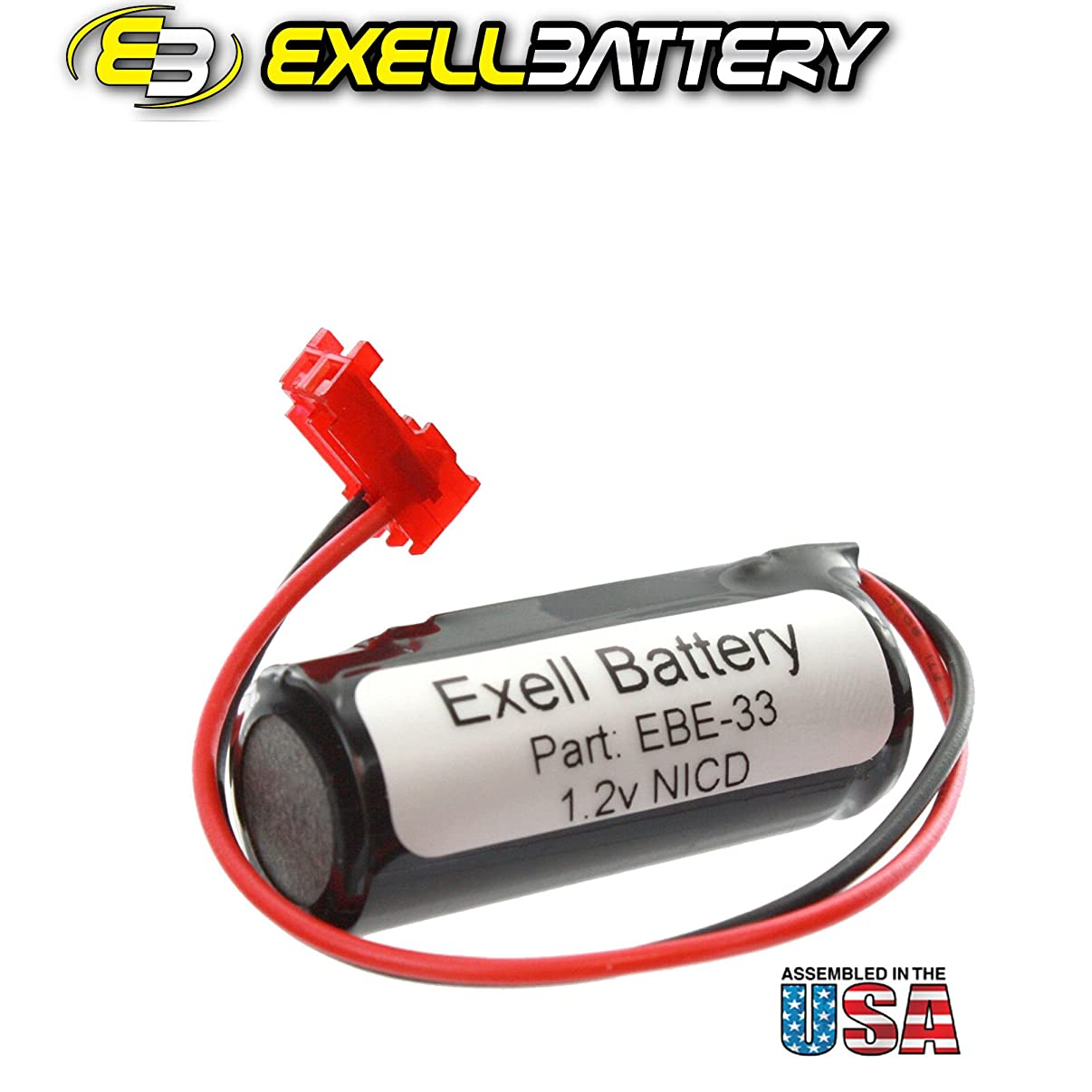 Emergency/Exit Lighting Battery Fits and Replaces Interstate ANIC1169 Lithonia ELB1210N Lithonia ELB1P201N Lithonia ELB1P201N2 Lithonia ELB1P2901N Lithonia LQMSW3R12277ELW Saft 16440 USA Ship