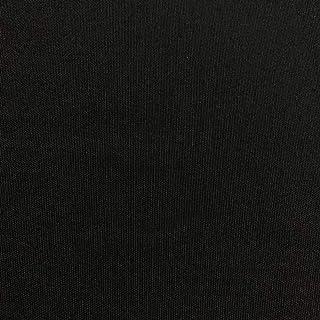 Kt KILOtela Canvas-Stoff, einfarbig, Baumwolle, Polyester, Lichtechtheit: 5-6, Leinwand, 100 cm Länge x 280 cm Breite   Schwarz
