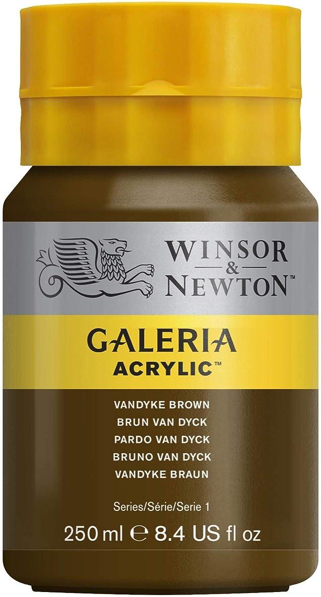Winsor & Newton 250ml Bottle Galeria Acrylic Colour with Nozzle Cap - Van Dyke Brown