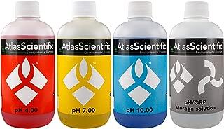Atlas Scientific pH 4.00, 7.00, 10.00, pH Electrode Storage Calibration Solution 250ml - 8oz (Pack of 4)