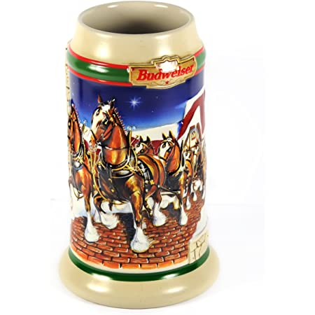 Budweiser 1998 Grants Farm Holiday Stein