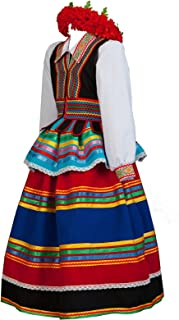 Polish costume women folk dress Poland