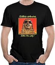 Twenty-nine COME Men's Stevie Come and Wonder - Hotter Than July T Shirt Black