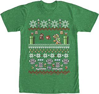 Nintendo Men's Mario and Bowser Ugly Christmas Sweater T-Shirt