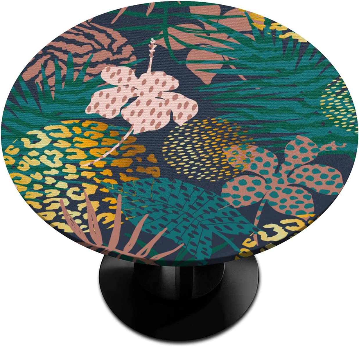 Palm Round Fitted Tablecloths 5% OFF Tablec Max 59% OFF Textures Animal Home