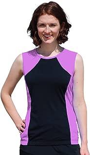 Women's Modest Swim Tank Top, Sleeveless Swim Suit Shirt Tankini