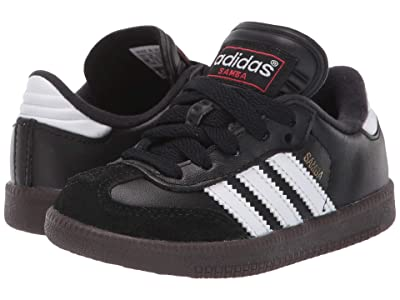 adidas Kids Samba(r) Classic Core (Toddler/Little Kid/Big Kid) (Black/Running White) Kids Shoes