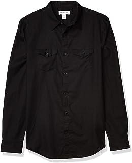 Men's Long Sleeve Lightweight Cotton Linen Button Down Shirt