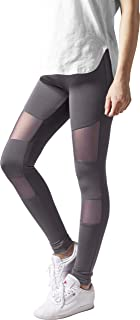 15554d24c53884 Urban Classics Damen Leggings Tech Mesh Yoga-Fitness-Hose, lange  Streetwear- &