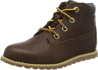 Timberland Pokey Pine 6 Inch Side Zip T Dark Brown Full Grain Leather Infant Ankle Boots